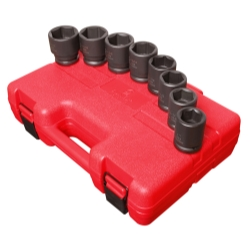 SOCKET SET IMPACT 3/4IN. DRIVE 8PC STD SAE 6 PNT