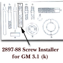 SCREW INSTALLER FOR GM 3.1 LETTER (K)