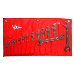 V-8 Tools (V8T214) 14 Piece 3/8in. to 1-1/4in. Angle Head Wrench Set