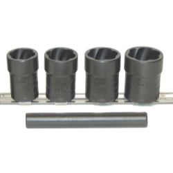 5 PIECE LOCKING LUGNUT TWIST SOCKET REMOVAL KIT