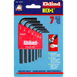 HEX KEY SET 7 PC SAE SHORT 5/64-1/4IN.