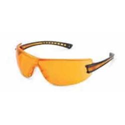 Gateway Safety, Inc. Gateway Safety, Inc. (GWS19GB77) Safety Glasses, Luminary, Wraparound Orange Anti-Scratch Lens, Black Temple, ...
