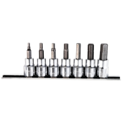 SOCKET HEX BIT SET 3/8IN. DRIVE 7 PC. SAE