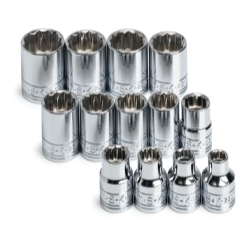 SOCKET SET 3/8IN. DRIVE 13PC METRIC STD 12 POINT