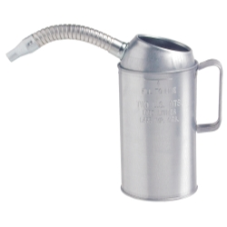 MEASURE LIQUID 4 QT. GALV STEEL FLEXIBLE SPOUT