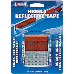 INCOM Manufacturing (INCRE2125) Reflective Safety Tape, Red/Silver, 2