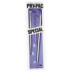 PRY BAR SET 3PC  2 ROLLING HEAD 1 JIMMY BAR