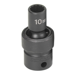 SOC 10MM 3/8D IMP UNIV 12PT BLK