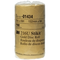 GOLD DISC ROLLS STIKIT P400 6IN 175/ROLL
