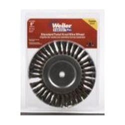 "Weiler Brush (WEI36028) Bench Grinder Wire Wheel, 8"" Diameter, Coarse Knotted Wire, Wide Face, 5/8"" Arbor at Sears.com"