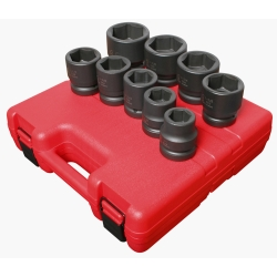 SOCKET SET IMPACT 1IN. DR. 9PC STD SAE JUMBO