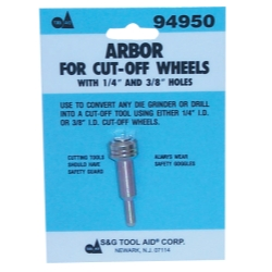 ARBOR MANDREL CUT OFF WHEEL
