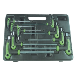 T-HANDLE BALL END SAE WRENCH SET 9 PC.
