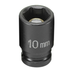 SOC 10MM 1/4D IMP MAG 6PT BLK
