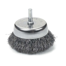 BRUSH CUP 2-1/2IN. CRIMPED WIRE
