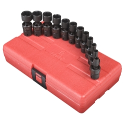 SOCKET SET IMPACT 1/4IN. DRIVE 12 PC UNIV METRIC