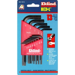 HEX KEY SET 13 PC SAE SHORT .050-3/8IN.