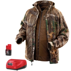 M12 Realtree Xtra Camo 3-in-1 Heat. Jacket Kit - L