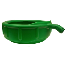 DRAIN PAN GREEN PLASTIC 5 GAL. 21.75X18.6X19.6IN.