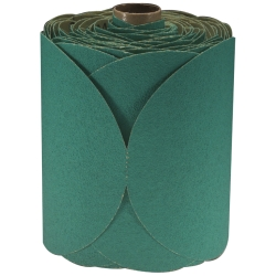 GREEN FRE-CUT DISC ROLLS STIKIT 80D 6IN 100/ROLL