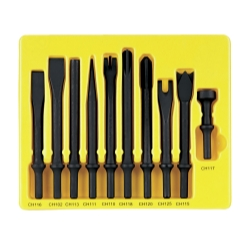 10PC GENERAL SERVICE CHISEL SET .401 SHANK
