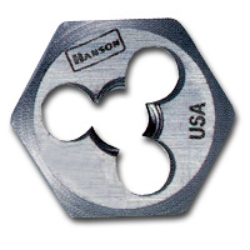 "Hanson High Carbon Steel Hexagon 5/8"" Across Flat Die 5mm-0.90 HAN6323"