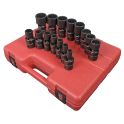 "Sunex (SUN2856) 15 Piece 1/2"" Drive 12 Point SAE Universal Impact Socket Set at Sears.com"