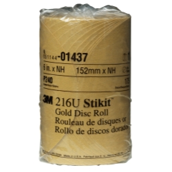 GOLD DISC ROLLS STIKIT P240G 6IN 175/ROLL