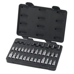 36PC MASTER TORX SET W/HEX SOCKET BITS