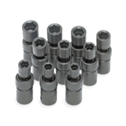 SOCKET SET IMPACT FLEX 1/2IN. DR 10PC MET STD 6 PT