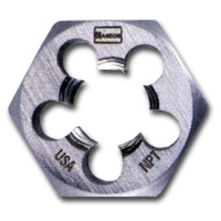 "Irwin / Hanson / Vise Grip High Carbon Steel Hexagon Taper Pipe 1"" Across Flat Die 1/4""-18 NPT at Sears.com"