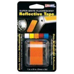INCOM Manufacturing (INCRE180) Fluorescent Reflective Tape, Super Brite Orange, 1