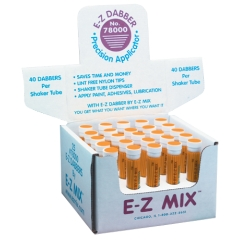 E-Z DABBER COUNTER DISPLAY 40 PER TUBE 25CS