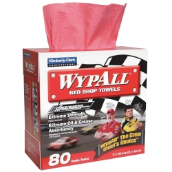 WYPALL RED SHOP TOWELS 80CT