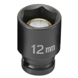 SOC 12MM 1/4D IMP MAG 6PT BLK