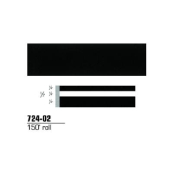 STRIPING TAPE--BLACK 1/2