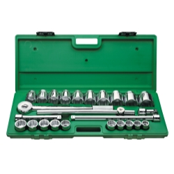 TOOL SET 3/4IN. DRIVE 25PC SAE STD 12 PT W RATCH
