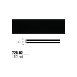 STRIPING TAPE--BLACK 3/16