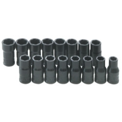 TURBO SOCKET SET 16PC 1/4