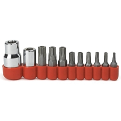 11PC TORX TAMPER PROOF BIT SOCKET SET