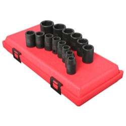 SOCKET SET IMPACT 1/2IN. DRIVE 14 PC STD METRIC 