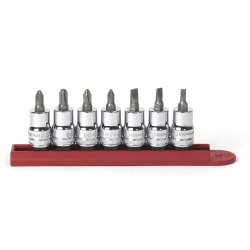 7PC SCREWDRIVER BIT SOCKET SET